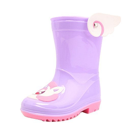 Cute Starry Kids' Rain Boots Purple Unicorn Children Rainy Days Shoes 14.5CM