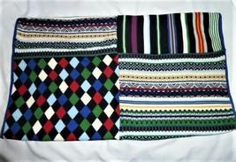 Baby Gap Fair Isle Stripe Diamond Fleece Knit Knitted Sweater Boy Blanket - $68.80