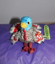 TY Retired Beanie Baby Lurkey Turkey 2000 Original Ty With Tags - $13.85