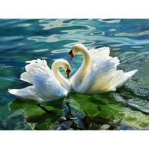 (01)DIY Swan Diamond Painting 5D Embroidery Crystal Rhinestone Picture D... - $20.00
