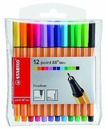 Stabilo Point 88 Mini Fineliner Pigment Liner Assorted Colours - Wallet ... - $14.03