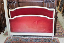 Antique  French Painted & Upholstered  Louis XVI Full Size Bed & Rails 1... - $1,150.00