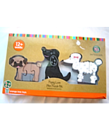 Puppy Love Mini Puzzle Set NIB Orange Tree Toys Handcrafted Wooden Puzz... - $12.99