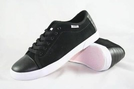 VANS SHOES HADLEY LO 5.5 WOMENS  WHITE BLACK SKATEBOARD - $37.39