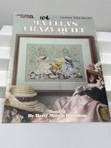 Leisure Arts Ma Ella's Crazy Quilt Cross Stitch Leaflet 709 1988 - $9.89