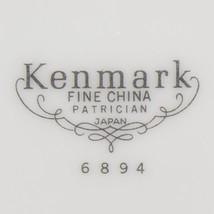 Kenmark Fine China Patrician 6894 Round Vegetable Bowl Japan White Platinum - $22.99