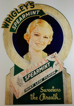 WRIGLEY'S SPEARMINT CHEWING GUM SWEETENS THE BREATH HEAVY DUTY METAL ADV... - $71.96