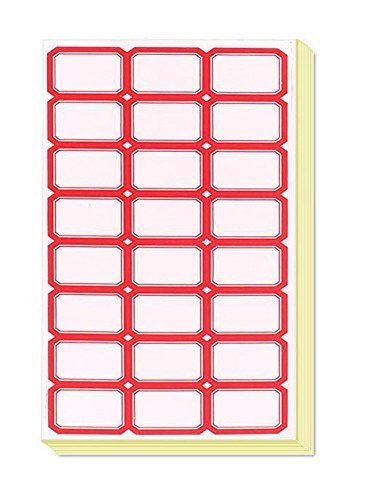 Primary image for 70 Sheets Red Edge Essential Bottle Stickers Labels