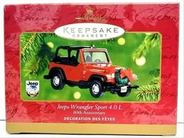 2001 Hallmark Keepsake Jeep Wrangler Sport 4.0L Ornament QXI6362 - $40.00