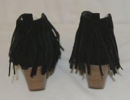 Beast Fashion Carrie 01 Black Fringe Slip On Shoes Size 6 And Half image 4
