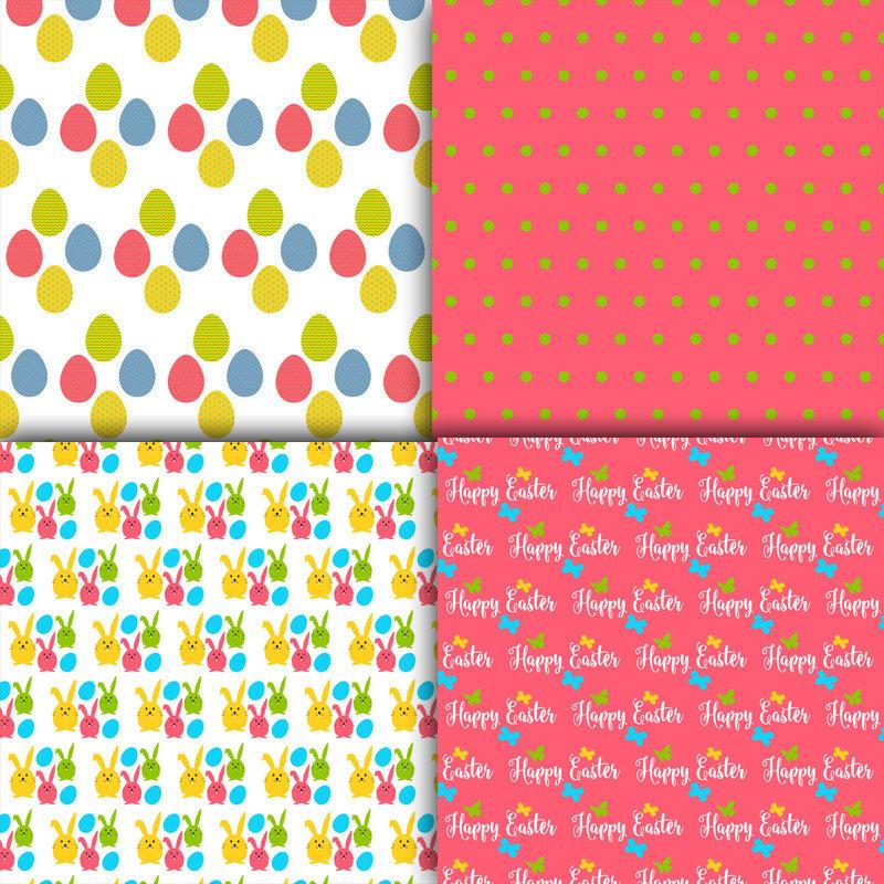 Easter Digital Paper Scrapbook Paper And 13 Similar Items