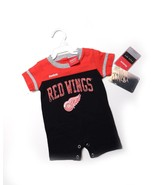 NWT NEW REEBOK NHL REDWINGS Short Sleeve Shorts One Piece SZ 0-3 months - $18.84