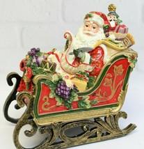 NIB Fitz & Floyd Regal Holiday Santa Sleigh Toyland Music Box Christmas ... - $36.99