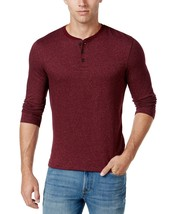 Club Room Mens Long-Sleeve Solid Heringbone Henley Sweater XXL 2XL Red $39 - £7.58 GBP