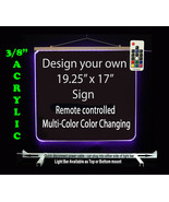 """Personalized LED Sign-Design your own Sign,  19.25"""" x 17"""" Multi-Color Ch... - $210.00"""