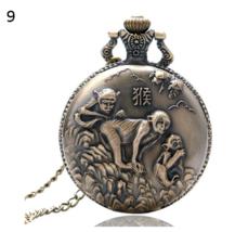 Antique Animal Watch Necklace Pendant Bronze Chinese Zodiac Commemorative 9 - $12.90