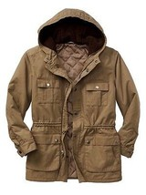 New Gap Men Utility Sherpa Hood Jacket Coat Classic Sepia Variety Sizes - $69.29