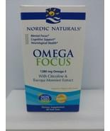 Nordic Naturals, Omega Focus, 1280 mg, 60 Soft Gels - $49.49