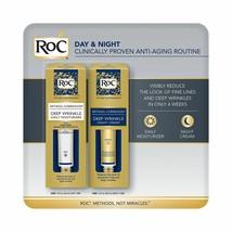 Roc Retinol Correxion Deep Wrinkle Night Cream and Daily Moisturizer Spf... - $51.09