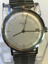 Vintage Gubelin Wristwatch Swiss Automatic 21 Jewel - $699.00