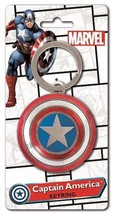 Marvel Comics Captain America Shield Colored Pewter Key Ring Keychain NE... - $9.70
