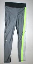 Womens S Under Armour Heat Gear Pants Leggings New Run Pilates NWT Gray ... - $44.55