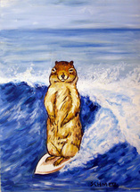animal Art oil painting printed on canvas home decor SURFING reproduction - $14.99+