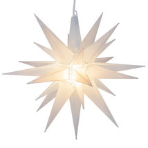 Warm White Clear Frosted LED Moravian Christmas Star Indoor Outdoor Disp... - $49.99