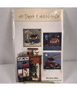 Vintage 90's Noah's Ark Wall Hanging Applique Quilt Pattern 40 Days & 40... - $6.93