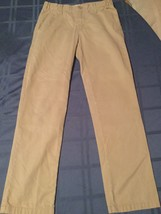 Boys Size 12 Regular Old Navy pants khaki plain flat front uniform pants - $5.49
