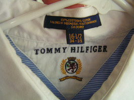 Tommy Hilfiger Men's 16 1/2 Blue & White Long Sleeve Classy Dress Shirt - $11.26
