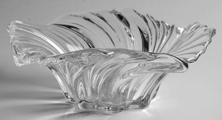 """MIKASA BELLE EPOQUE CENTERPIECE 14"""" LEAD CRYSTAL MADE IN GERMANY NEW"""