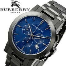 Brand New Burberry BU9365 Gray Ion Plated Stainless Steel Blue Dial Men's Watch - $296.99