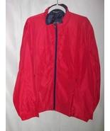 Allegra K Mens Windbreaker Jacket Red Zipped Pockets Mock Neck L/44 New - $39.59