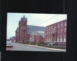 ST. PATRICK'S RECTORY PARISH SCHOOL AND CHURCH NASHUA NH POSTCARD TICHNO... - $9.40