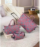 3 Pc. Overnight Rolling Suitcase Luggage Set Travel Duffel Bag Carry Tot... - $16.97+