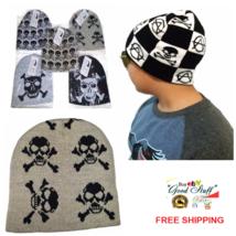 Fashion Unisex Knit Ski Skull Cap Warm Beige Hat 4 Skeletons for Boys Gi... - $3.99