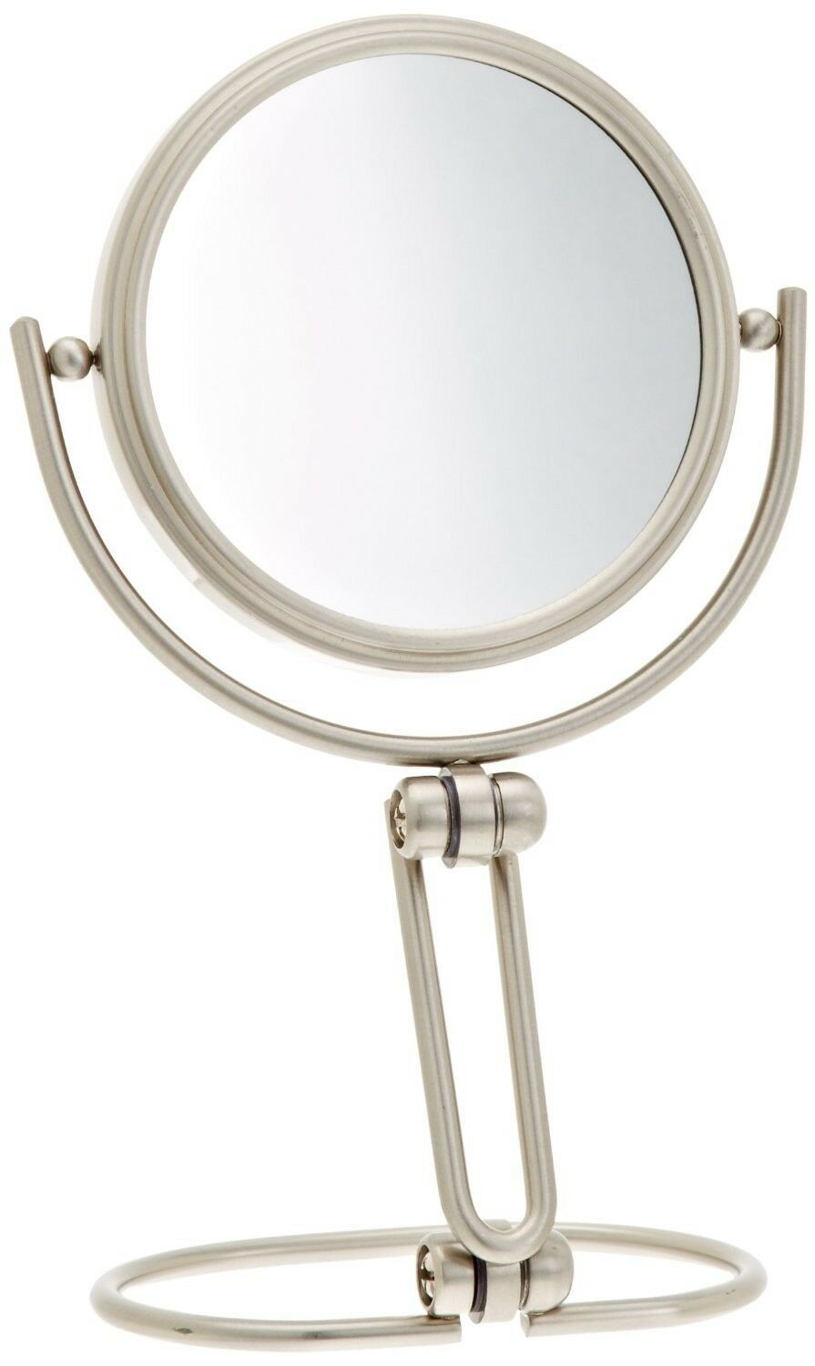 Primary image for 3 Inch Folding Two Sided Swivel Travel Mirror 15x Magnification Nickel Finish