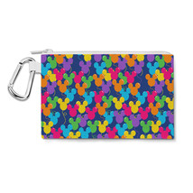 Mickey Ears Balloons Disney Inspired Canvas Zip Pouch - $14.99+