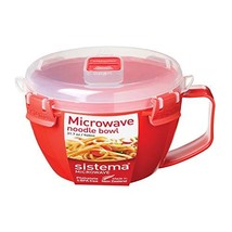 Sistema 1109ZS Microwave Collection Noodle Bowl, 31.7 oz, Red - $7.54