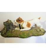 Jack Russel Figurine with Squirrel Resin My Dog - $34.00