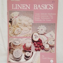 Linen Basics Cross Stitch Leaflet Leisure Arts 695 1988 Flowers Angels - $13.45