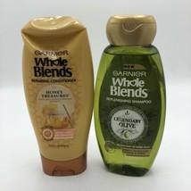 Garnier Whole Blends Legendary Olive Shampoo Honey Treasures Conditioner Lot 2 - $16.82