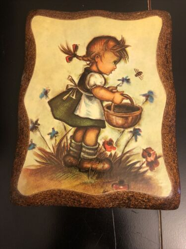 Primary image for Wall Plaque Girl With Basket