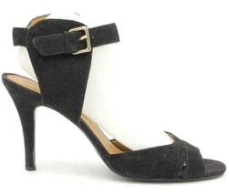 Nine West Adalina Women Ankle Strap Pump Heels Size US 9.5M Black Suede - $21.86
