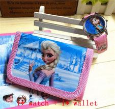 Hot 2 pc/lot Cute Disney Frozen Kids Cartoon Digital Watch & Wallet New Girls  - $5.99