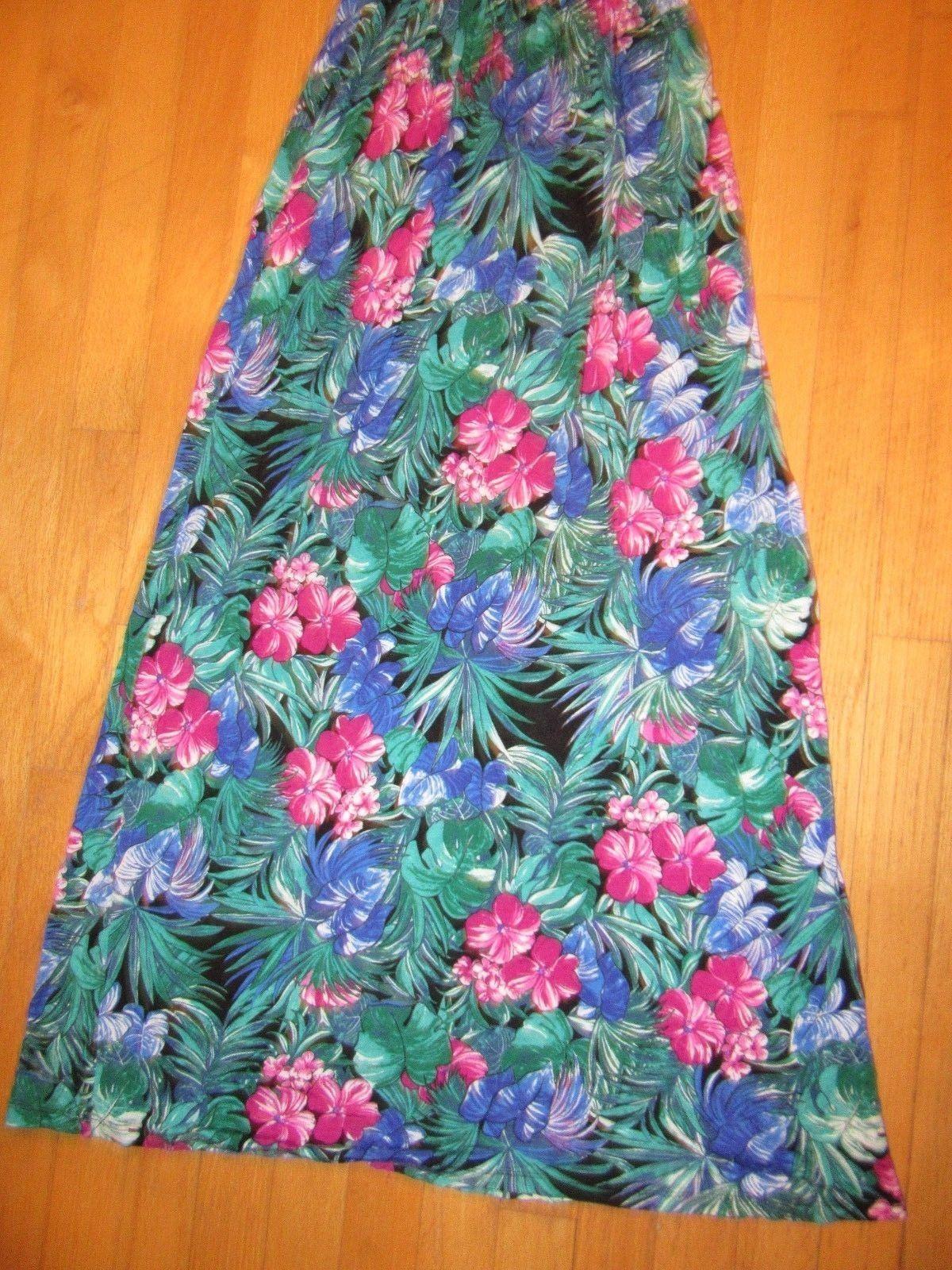 8H/LUSH WOMEN'S SIZE SMALL LONG MAXI DRESS/SPAGHETTI STRAP/FLORAL/GREENS!