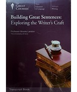 Building Great Sentences: Exploring the Writer's Craft -The Great Courses - $18.53