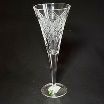 1 (One) WATERFORD MILLENNIUM SERIES HAPPINESS Cut Crystal Fluted Champag... - $66.49