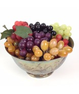 7 Bunches VTG Artificial Realistic Rubber Grapes Watson WP104 Silver Bow... - $24.95